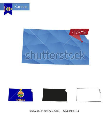 Kansas Outline Stock Images, Royalty.