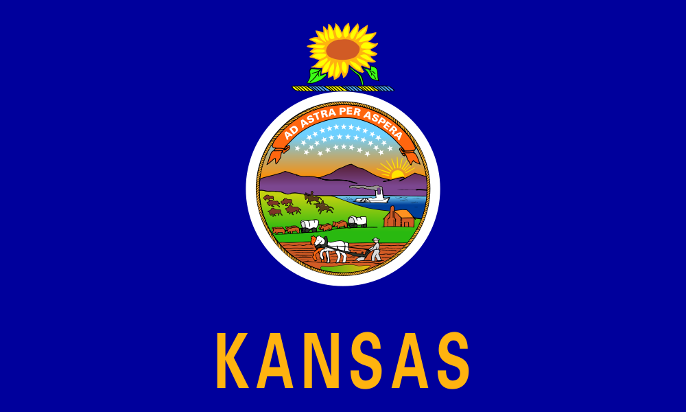 Kansas: Flags.