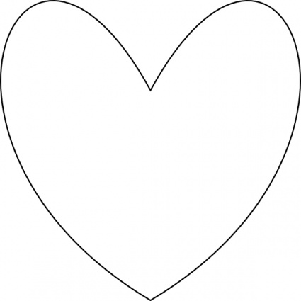 Clip Art Heart Outline.