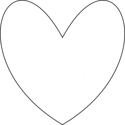 Clip Art Heart Outline.