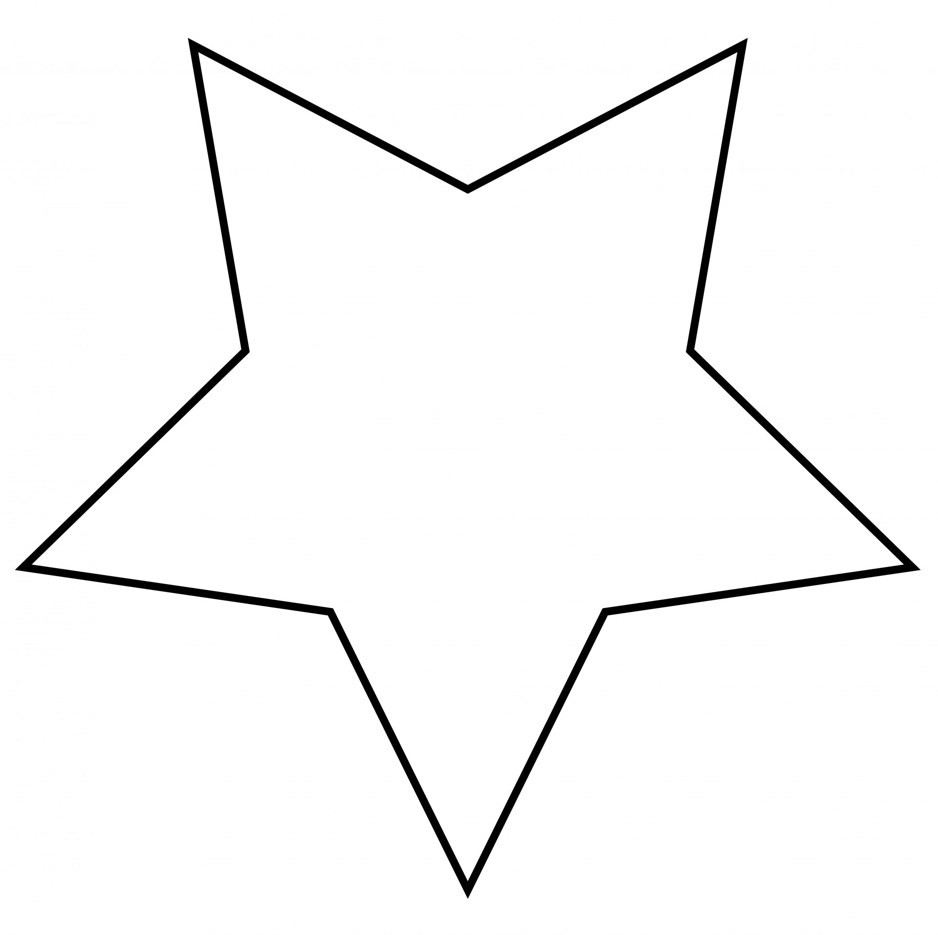 Star Outline Clipart Free Stock Photo.