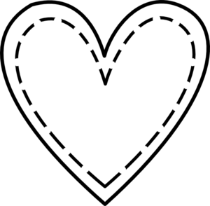 Double Heart Outline Clip Art at Clker.com.