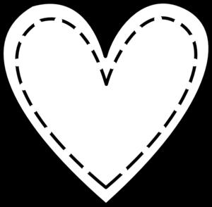 Double Heart Outline Clip Art at Clker.com.
