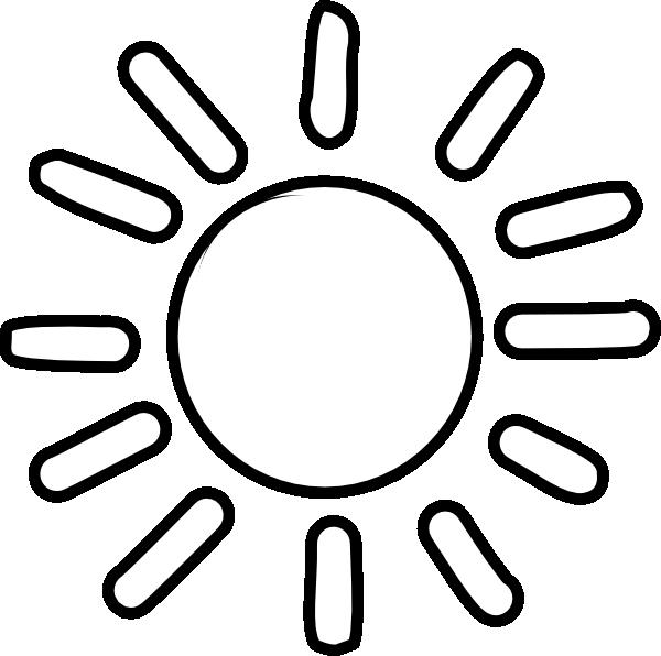 Sun Outline Clipart.