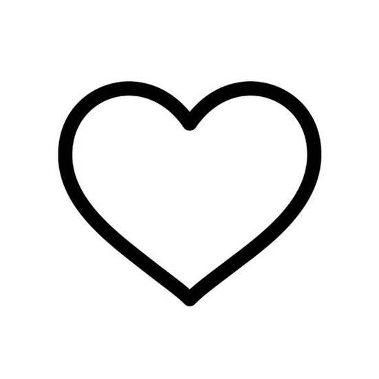 Heart outlines clip art.