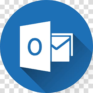 Microsoft Office long Shadow Icons, outlook.