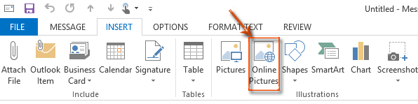 How to insert clipart in Outlook?.