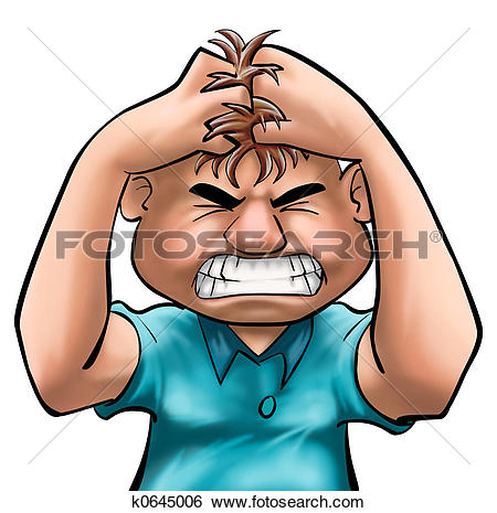 Stock Illustration of angry k0645006.