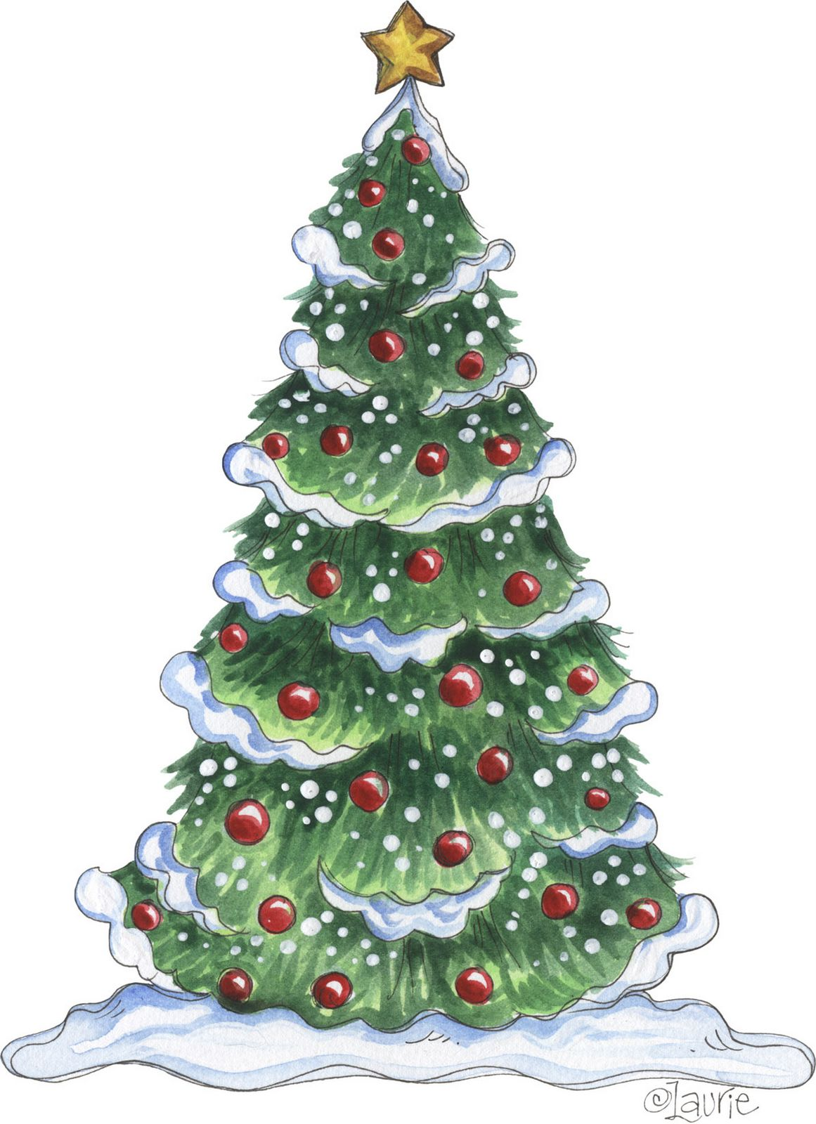 outside christmas tree clipart - Clipground