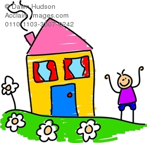 Outside House Clipart.