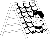 Free Black and White Outdoors Outline Clipart.