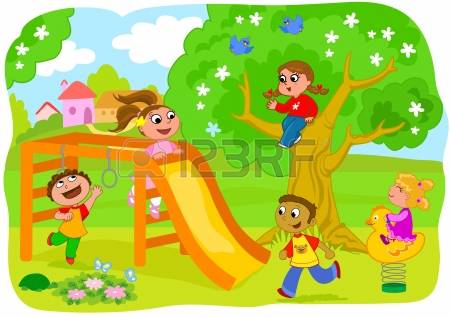 1,650 Children Playing Outside Stock Vector Illustration And.