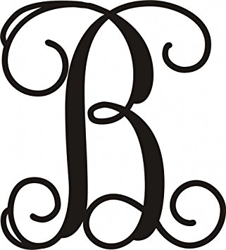 "Amazon.com: Monogram Letter Approximately 20""T X 18""W Door or Wall."