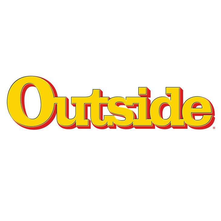 Outside.