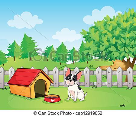 Dog Wanting Outside Clipart.