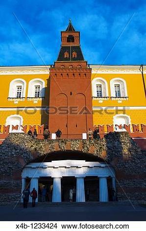Stock Photo of Troitskaya Bashnya Trinity Gate outside the Kremlin.