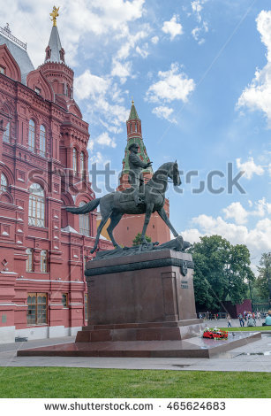 Statue of marshall zhukov clipart #2