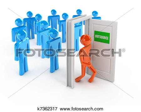Stock Illustration of Outsource 3d concept k7362317.