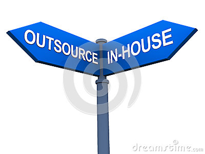 BPO Outsourcing Functions Royalty Free Stock Images.