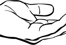 Outstretched Hand Clipart.