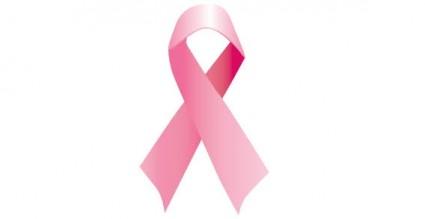 Pink ribbon vector Vector icon.
