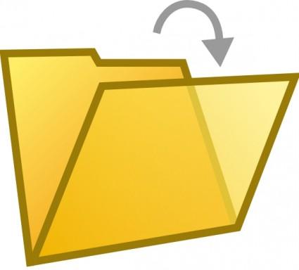 Clipart D\'ouvrir Le Dossier Document.