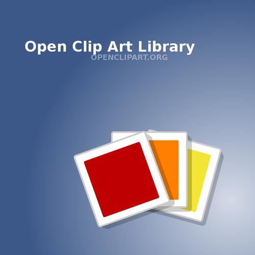 Pochette de CD pour ouvrir des images vectorielles clipart.