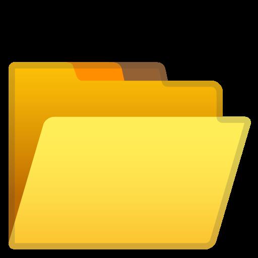 Icône Ouvrir, fichiers, dossier Gratuit de Noto Emoji Objects.