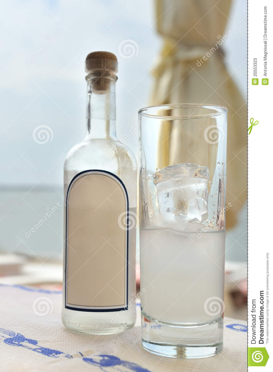 Greek Ouzo Stock Photos.