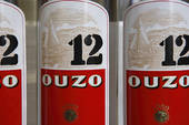 Stock Images of Ouzo in icy bottle (detail) 986866.