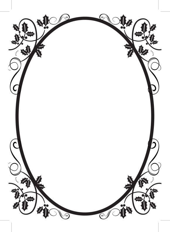 simple oval border frames (52443.