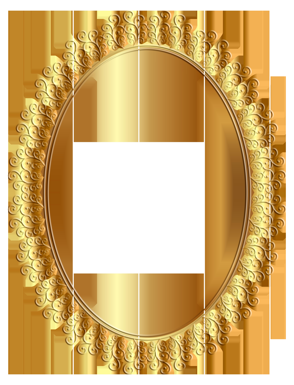 Oval Frame Transparent Clip Art Image.