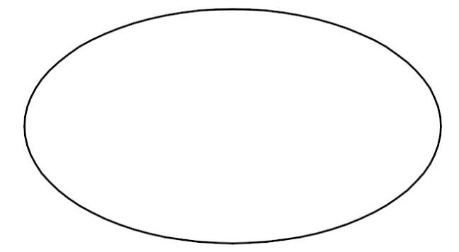 1418 Oval free clipart.