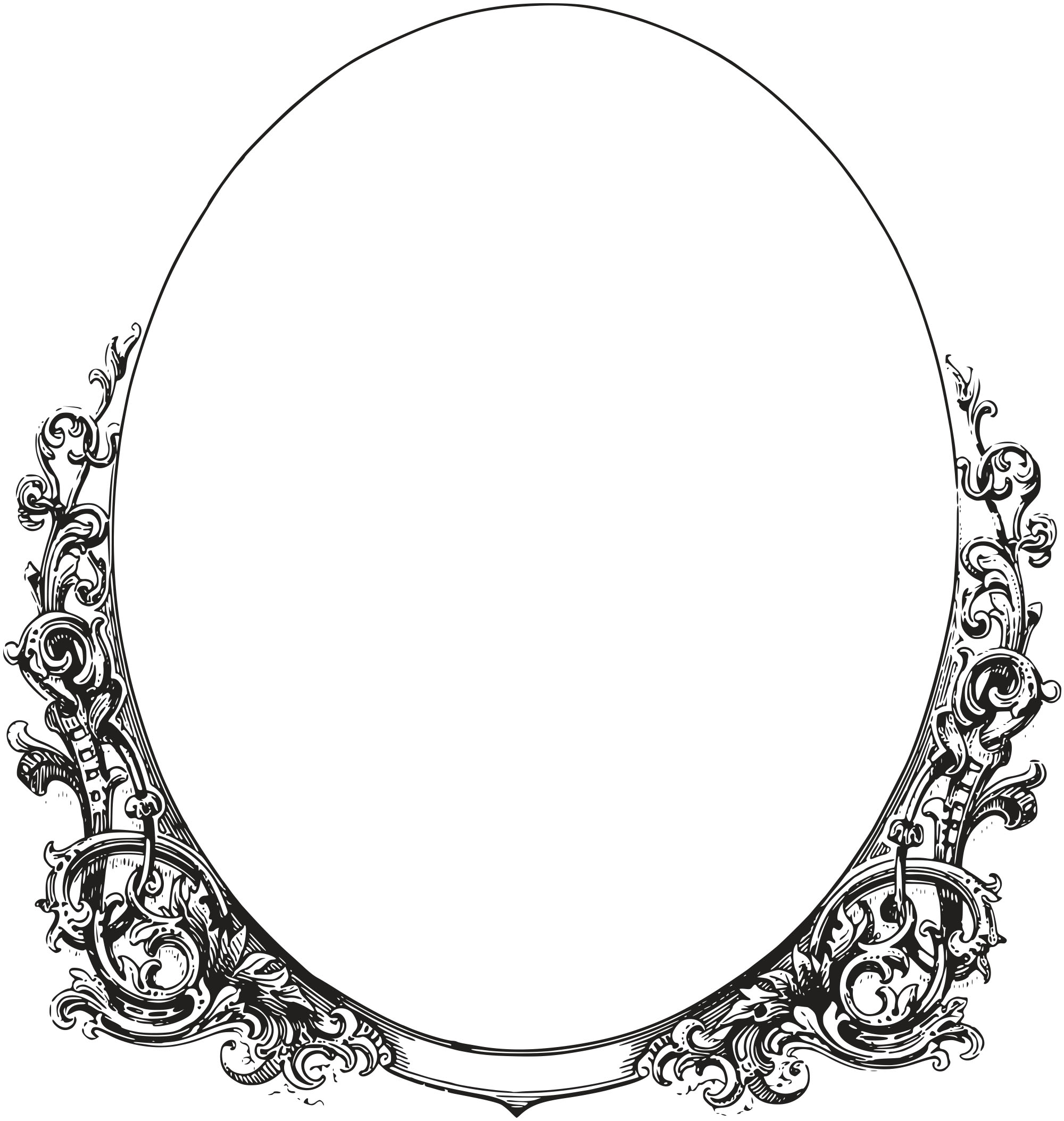 Oval Frame Clipart Free.