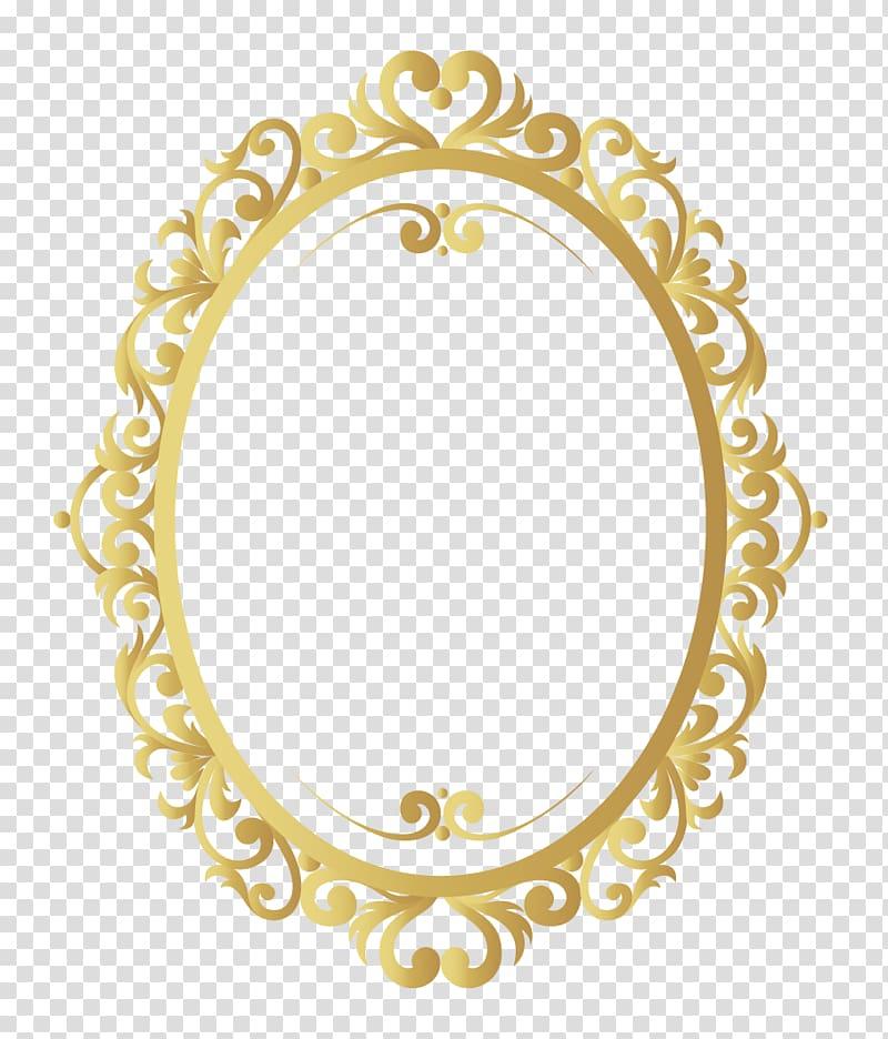 Gold frame illustration, Frames , vintage border transparent.
