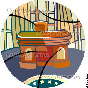 The Oval Office Vector Clip art.