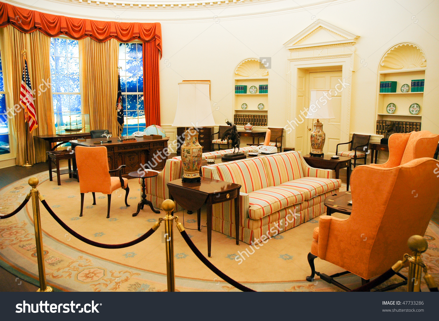 Carter Center Oval Office Stock Photo 47733286.