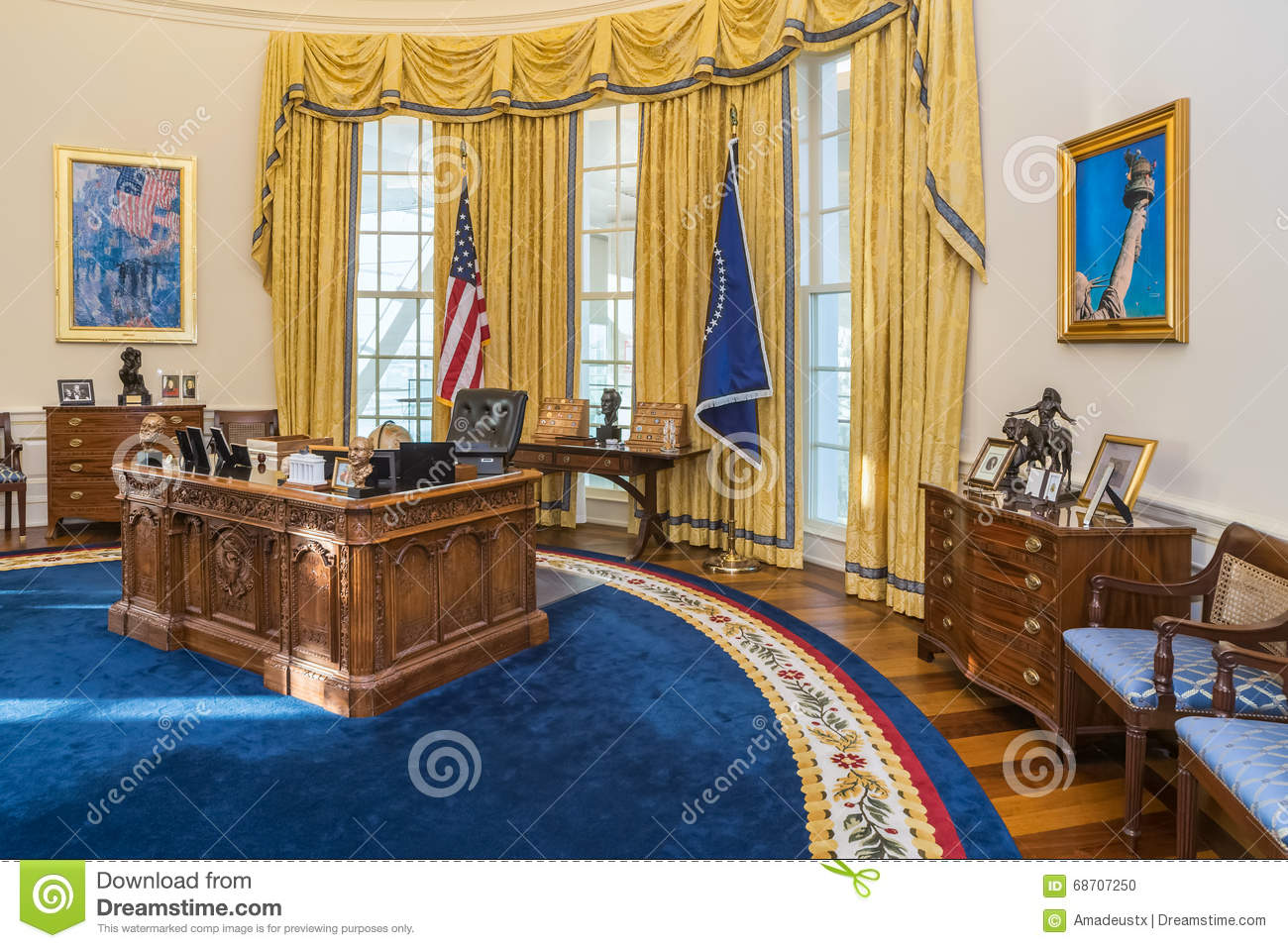 President, Presidential Oval Office, White House Stock.