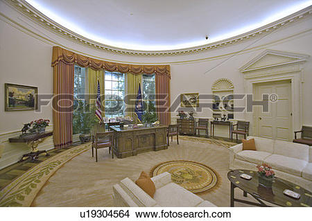 Stock Photo of Replica of the White House Oval Office u19304564.