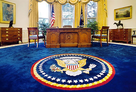 New White House look: Trump gives the Oval Office a makeover.