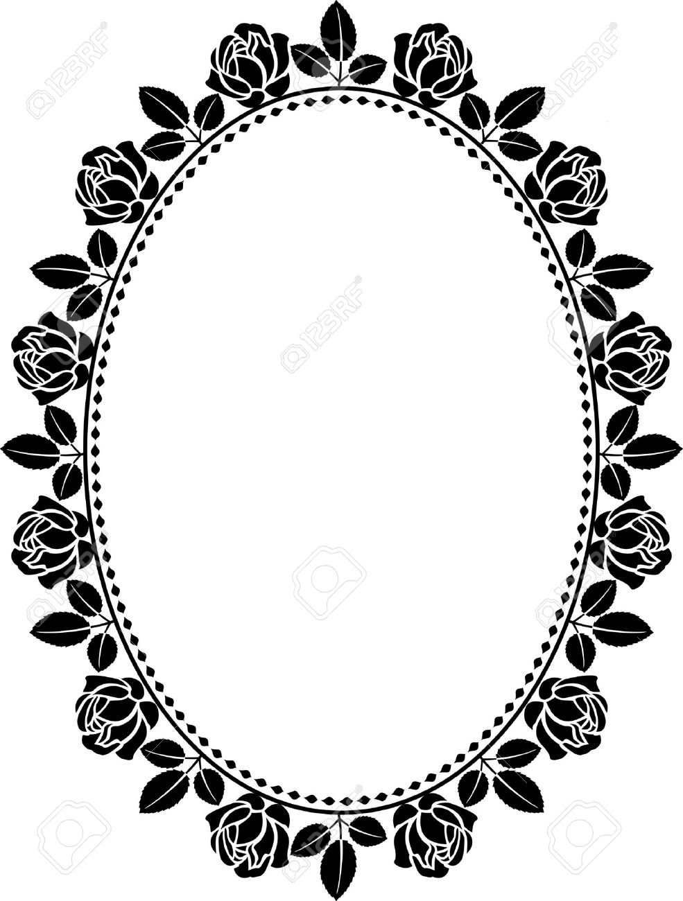 Oval Outline Border Clipart Clipground