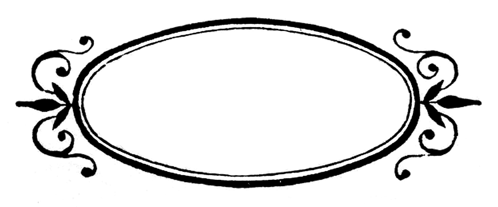 Oval Picture Frame Clip Art.
