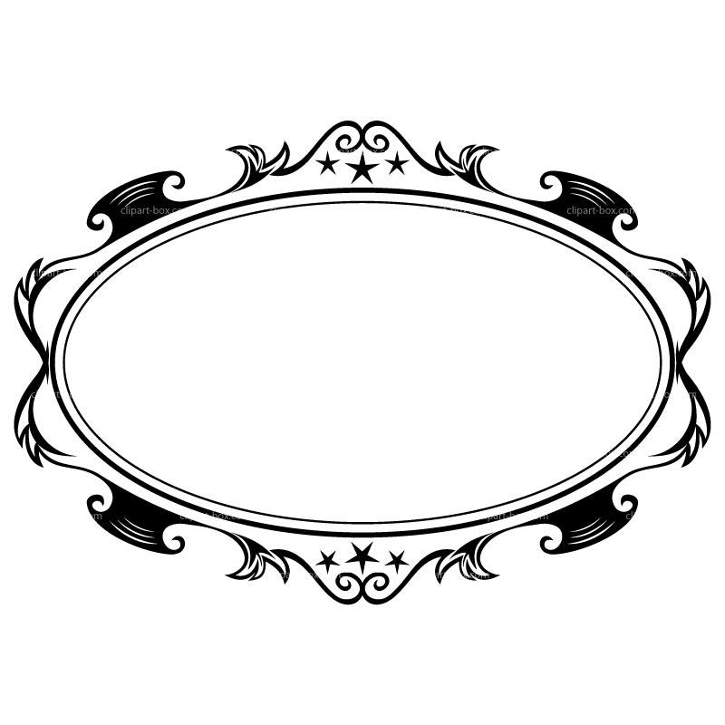Fancy Oval Frame Clip Art.