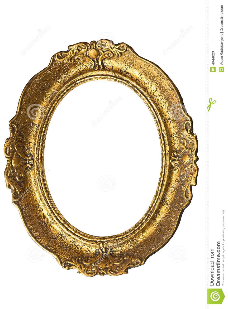 Oval Picture Frame Clip Art Gold.