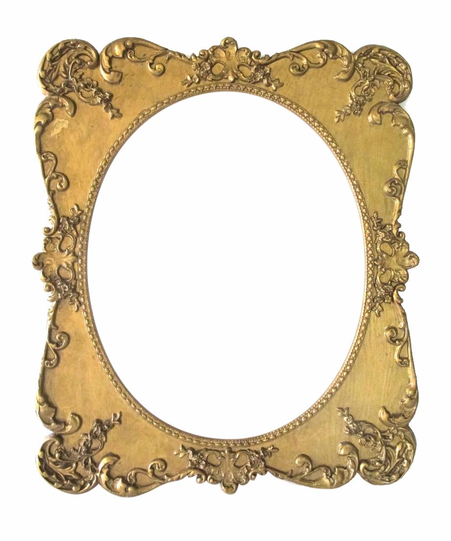 Vintage Oval Frame Png.