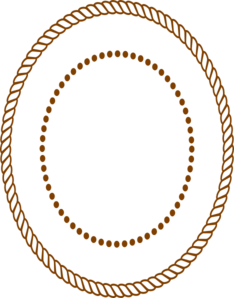 Oval Rope Border.