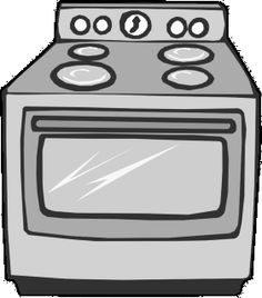Cookies In Oven Clipart.