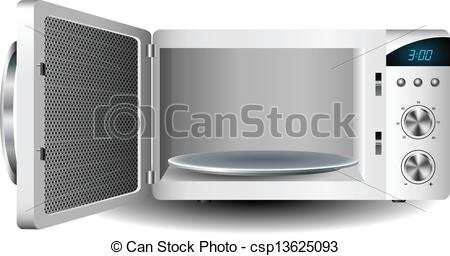 EPS Vectors of Microwave oven with open door csp13625093.