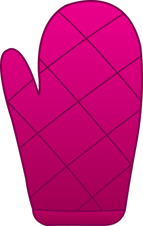 Pink Oven Mitt.