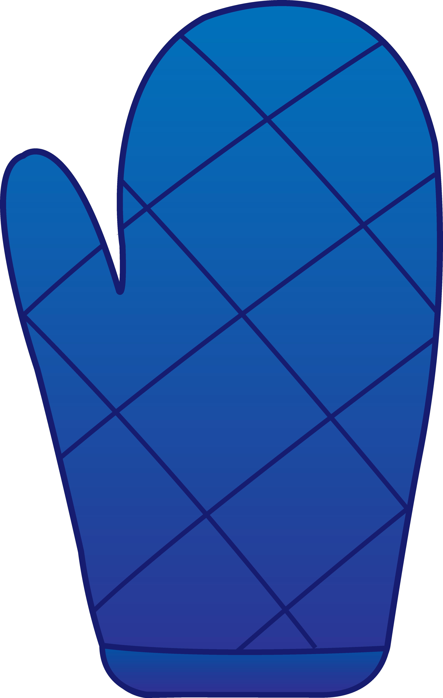Blue Oven Mitt.